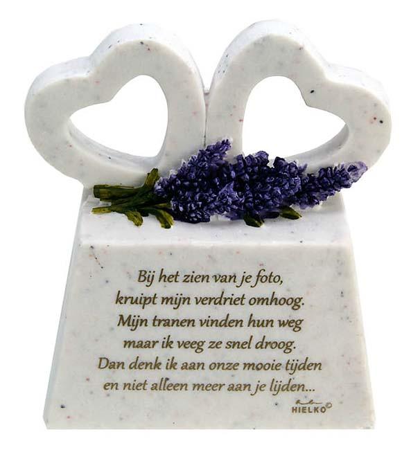 Zwei Gedenkherzen auf Assokkel mit Gedicht Gute Zeiten (0,2 Liter) Gedenkherzen mit Aschehalter