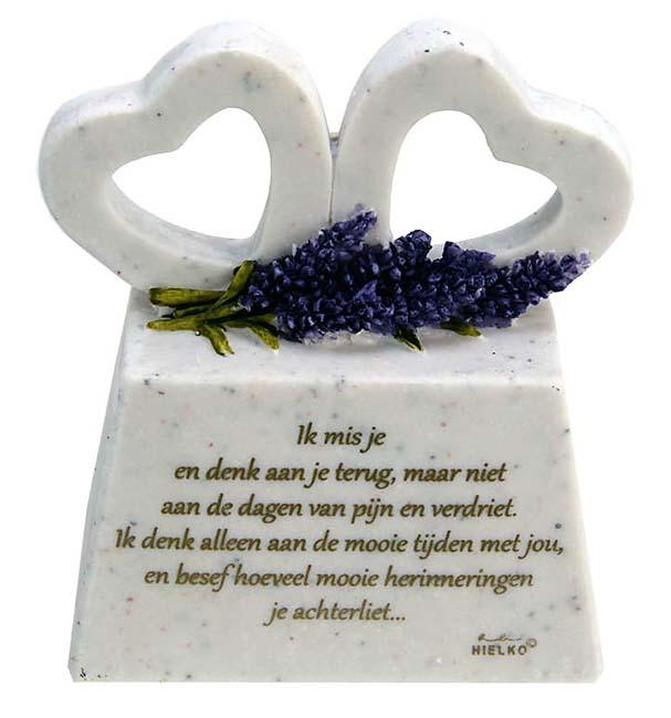 Zwei Gedenkherzen auf Assokkel mit Gedicht ´Vermisse Dich´ (0,2 Liter) Glaskugelförmige Tierurnen