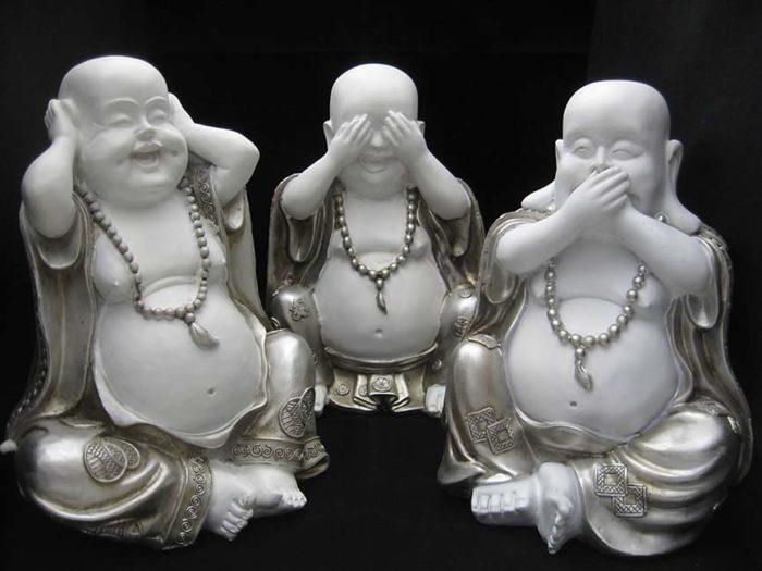 Chinesische Anhörung Siehe Stille Buddha Tierurne (3x 1,5 Liter) Tierurnen