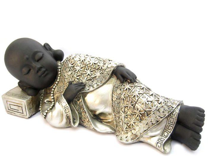 Buddha Tierurne Friedlich Schlafende Shaolin Mönch (1,2 Liter) Tierurnen
