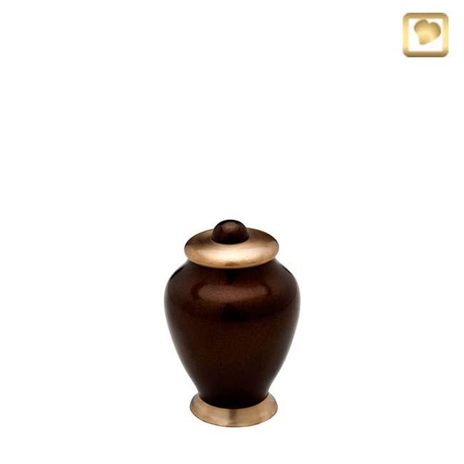 Messing Einfachheit Mini Tierurne Vaseurne (0,1 Liter) Tierurnen