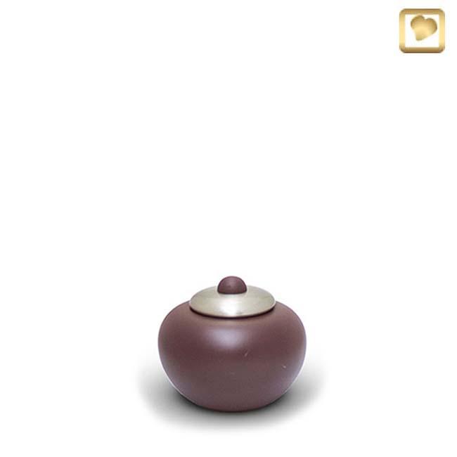 Messing Einfachheit Mini Tierurne Poturn Cranbarry (0,1 Liter) Tierurnen