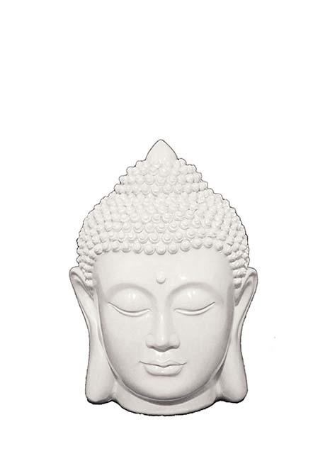 Weißer Buddha Kopf Tierurne (0,25 Liter) Tierurnen