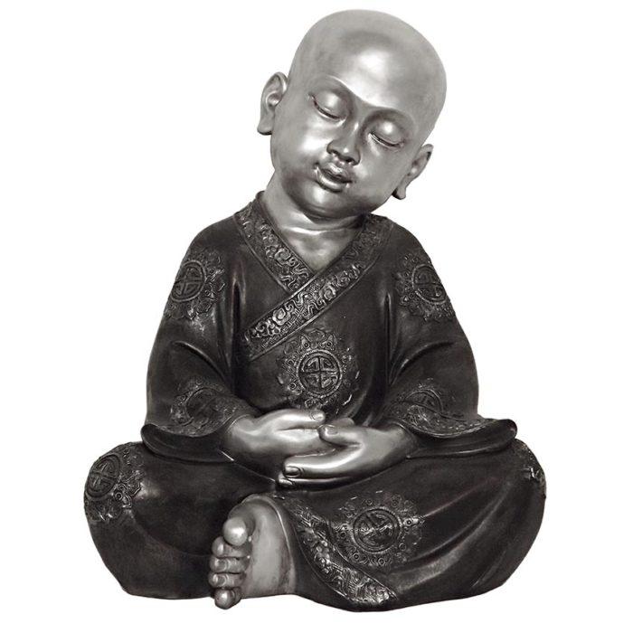 XXL Tierurne Meditierender Shaolin-Mönch (14,0 Liter) Tierurnen