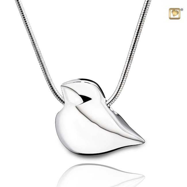 Achsbügel ´Love Bird´ Silber, inklusive Colliere Ascheschmuck Tiere