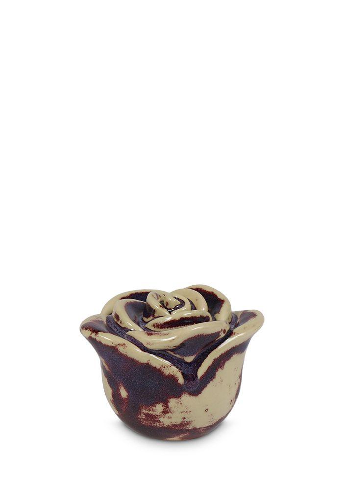 Mini Keramische Dunkel gefleckte Rose Tierurne (0,35 Liter) Tierurnen