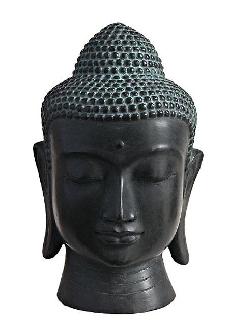 Bronze Buddha Kopf Thai Tierurne Große (3,0 Liter) Tierurnen