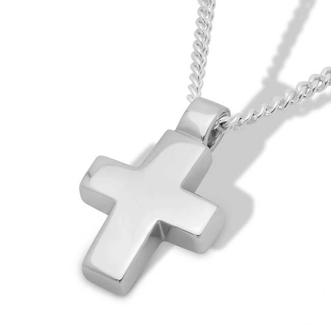 Gedenkschmuck Kreuz Silber, inklusive Colliere Asche Schmuck