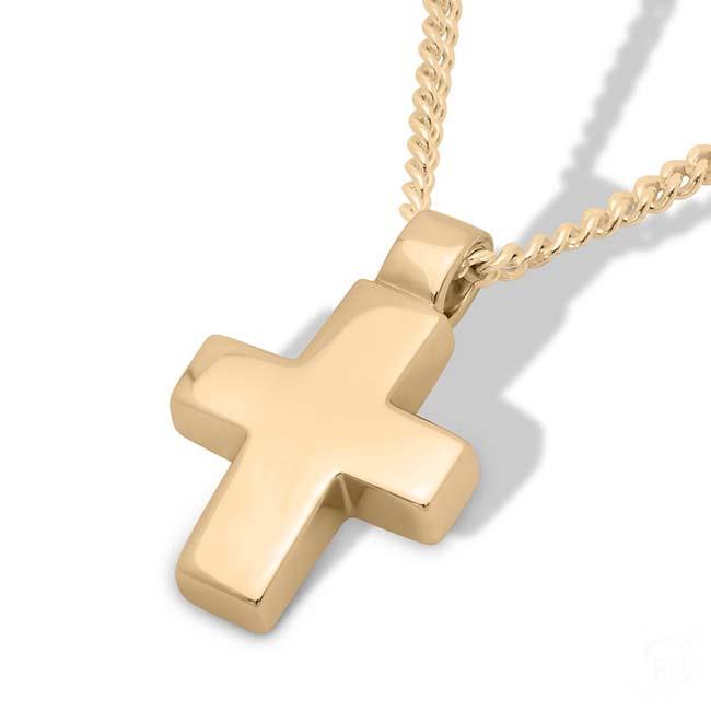 Gedenkschmuck Kreuz Gold, inklusive Colliere Asche Schmuck