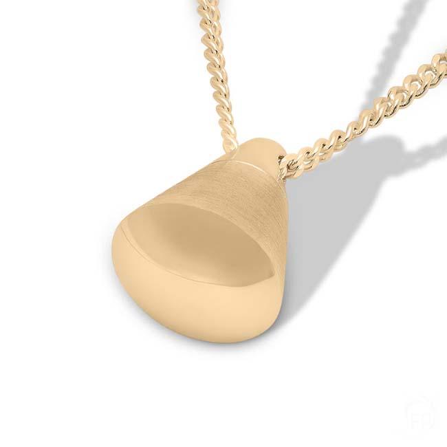 Gedenkschmuck Kegel Gold, inklusive Colliere Asche Schmuck