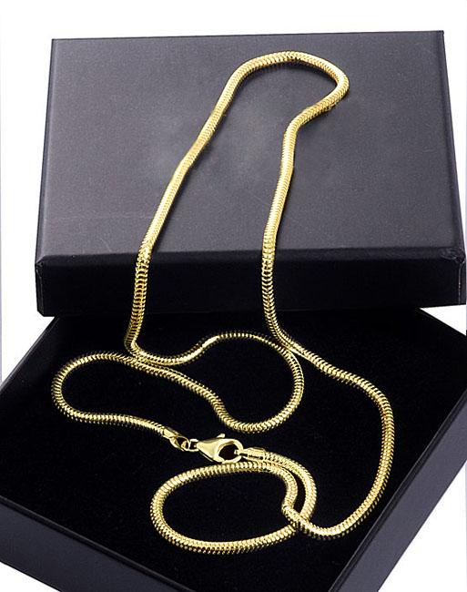 Schlange Colliere Extra Große Gold Asche Schmuck