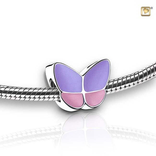 Eschenperle Schmetterling Lavendel Asche Schmuck