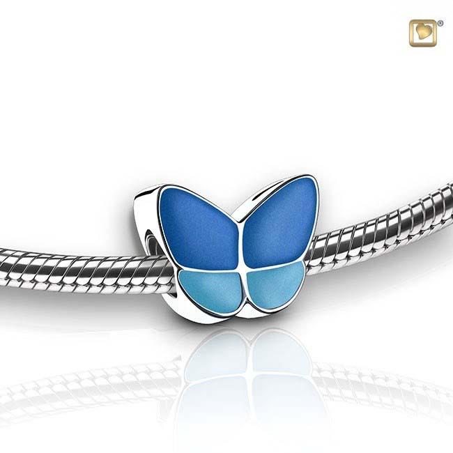 Eschenperle Schmetterling Blau Asche Schmuck