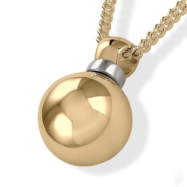 Aschebügel Ball Gold Asche Schmuck
