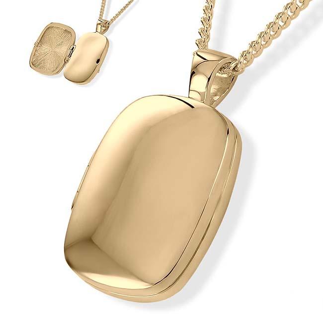 Medaillon für Foto und Asche Gold Asche Schmuck
