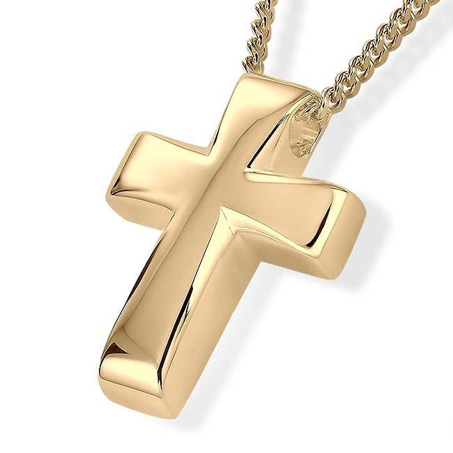 Ascheschmuck Kreuz Gold Asche Schmuck