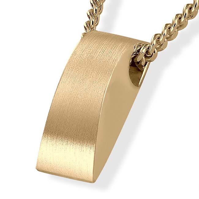 Rechteckiger Ascheschmuck Gold Asche Schmuck
