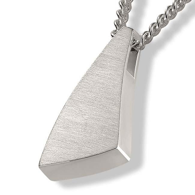 Dreieckiger Ascheschmuck ´Sail Away´ Silber Asche Schmuck