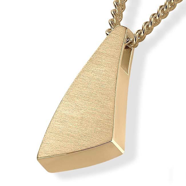Dreieckiger Ascheschmuck ´Sail Away´ Gold Asche Schmuck