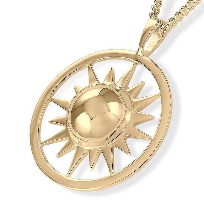 Ascheanhänger Scheinende Sonne Gold Asche Schmuck