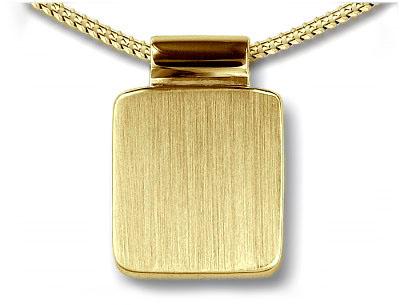 Ascheanhänger Quadratisches Bild Gold Asche Schmuck