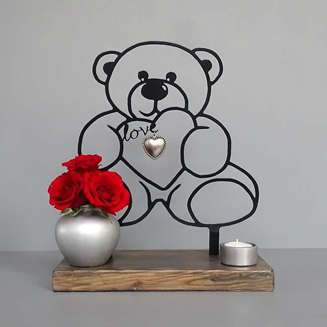 Gedenkaltar Teddybeer – Schwarz oder Weiß Asche Schmuck