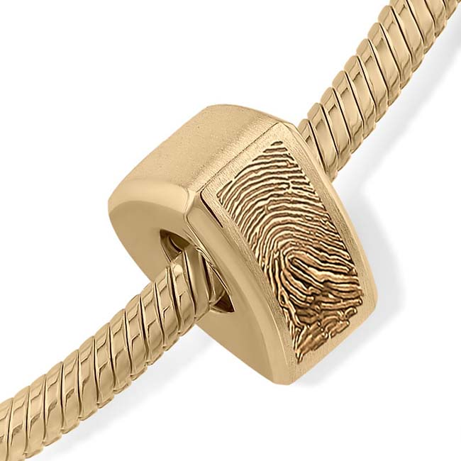 Fingerabdruck Ascheanhänger Memorial Dreieck Gold Asche Schmuck