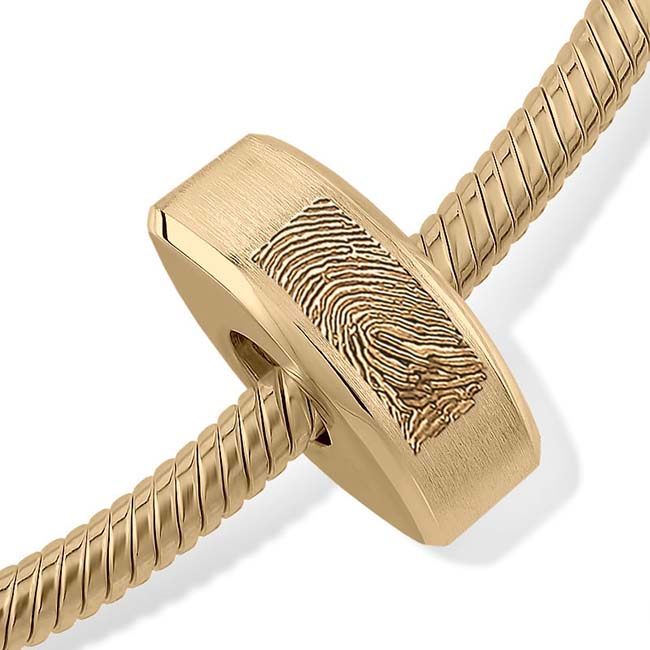 Fingerabdruck Ascheanhänger Memorial Ovale Gold Asche Schmuck