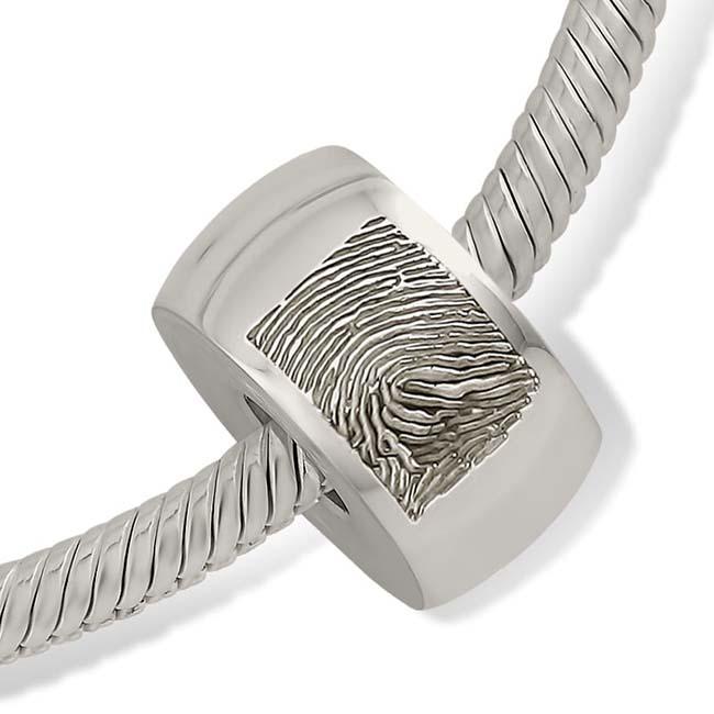 Fingerabdruck Ascheanhänger Memorial Kugel Runde Silber Asche Schmuck