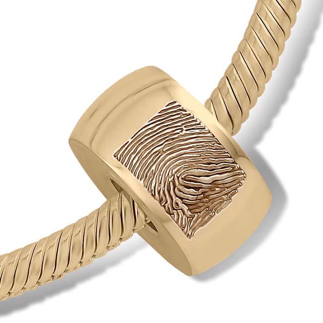 Fingerabdruck Ascheanhänger Memorial Kugel Runde Gold Asche Schmuck
