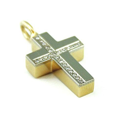 Ascheanhänger Kreuz mit 22 Brillanten Asche Schmuck