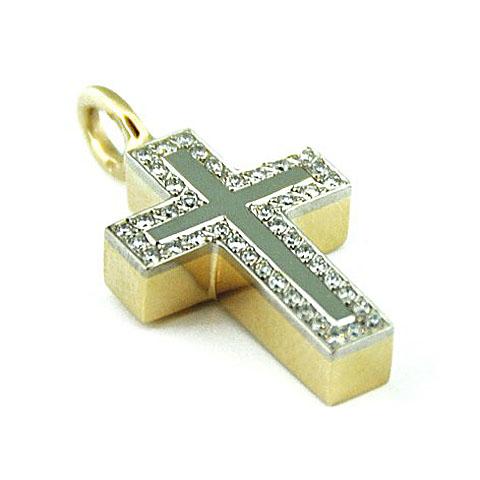 Ascheanhänger Kreuz mit 42 Brillanten Asche Schmuck