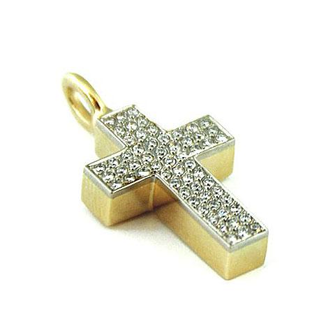 Ascheanhänger Kreuz mit 60 Brillanten Asche Schmuck