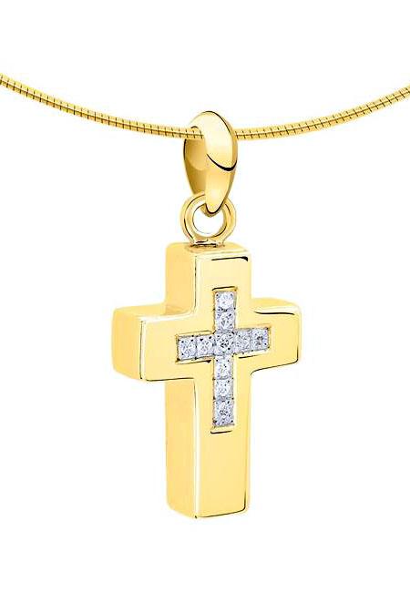 Ascheanhänger Kreuz Gold Asche Schmuck