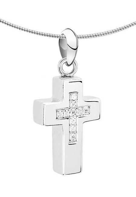 Ascheanhänger Kreuz Silber Asche Schmuck