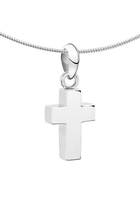 Ascheanhänger Kleines Kreuz Silber Asche Schmuck
