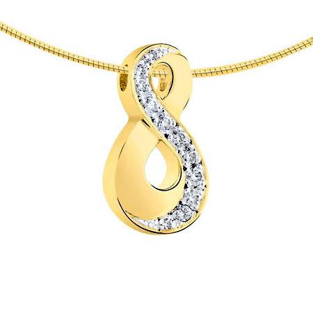 Ascheanhänger Infinity mit 11 Diamanten Asche Schmuck