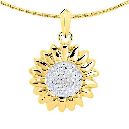 Ascheanhänger Sonne oder Sonnenblume Gold Asche Schmuck