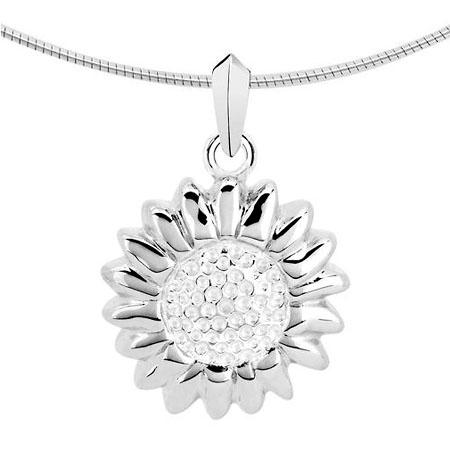 Ascheanhänger Sonne oder Sonnenblume Silber Asche Schmuck