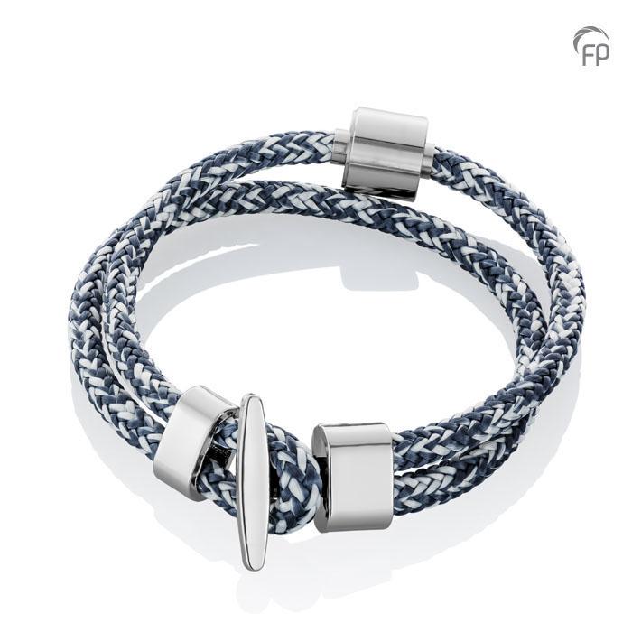 Barrel Armband Seekabel Denim-Jeans, RVS Eschenraum Armbänder mit Aschekapsel