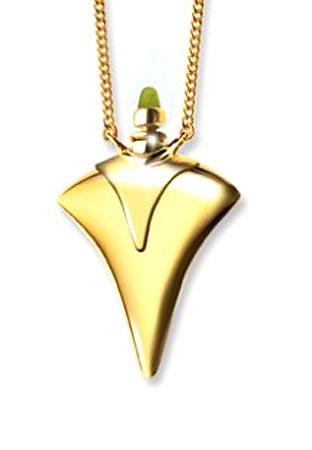 Ascheanhänger Harm Bron Design Flasche mit Kragen Gold Asche Schmuck