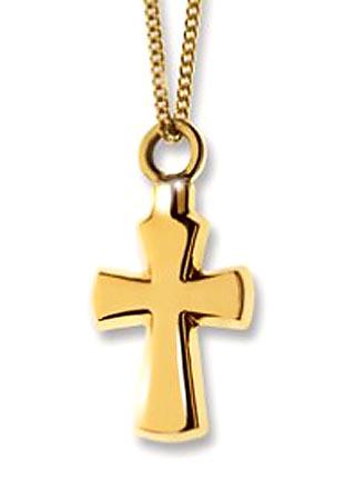 Kreuzförmiger Ascheanhänger Gold Asche Schmuck