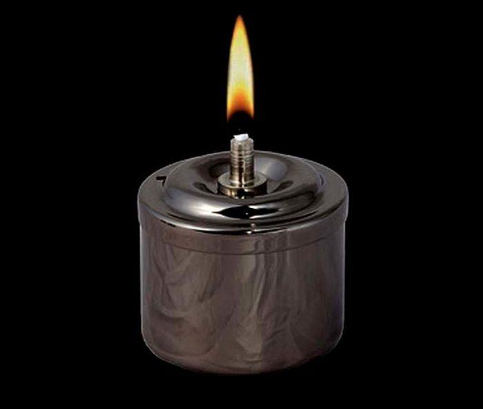 Rauchsilberne RVS Öllampe Öllampe