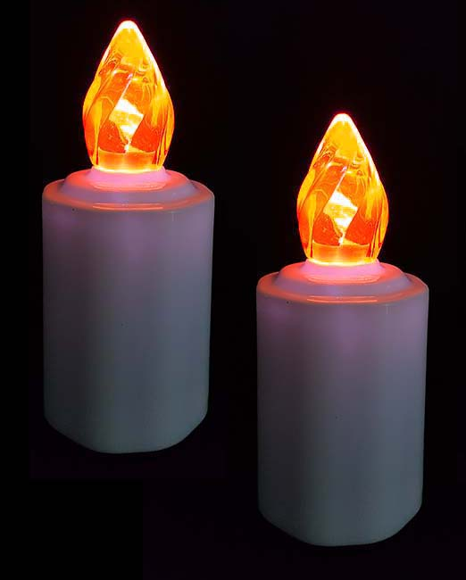 Zwei Wasserdichte LED-Kerzen Orange Flamme LED-Kerzen