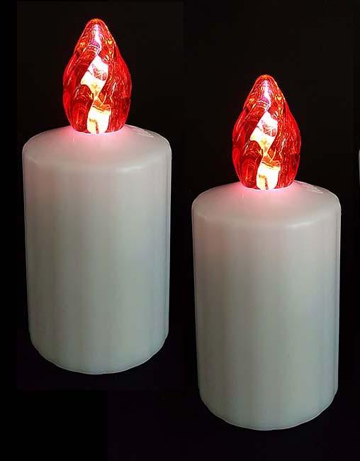 Zwei Wasserdichte LED-Kerzen Rote Flamme LED-Kerzen