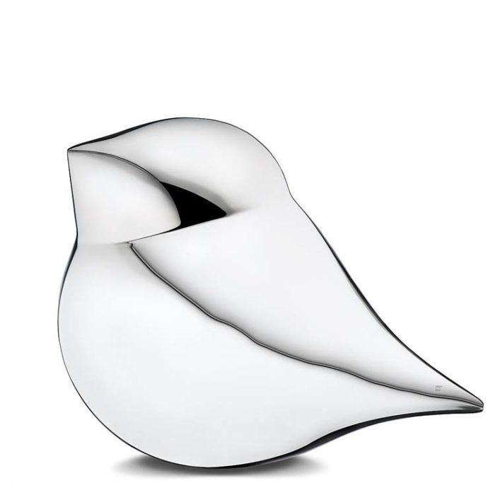 Große Silberne SoulBird Urne Mann (3,5 Liter) Messing Love Bird Urnen