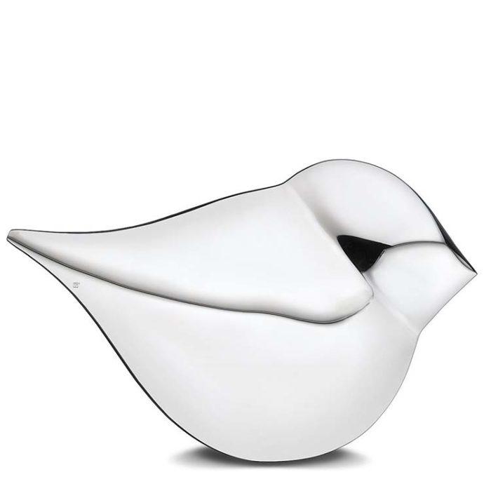 Große Silberne SoulBird Urne Frau (3,5 Liter) Messing Love Bird Urnen