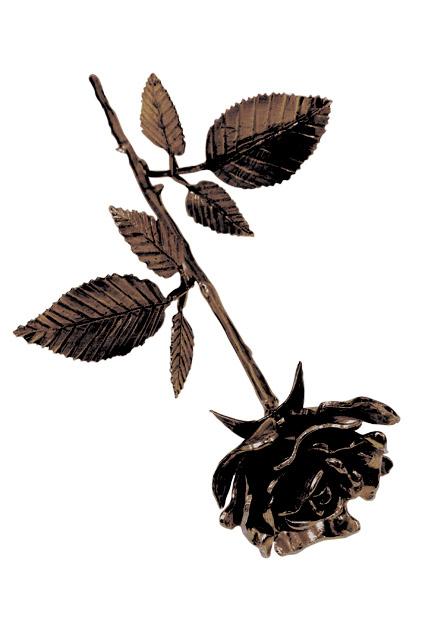 Aschefigur Eine Rose in Blüte Bronze (0,0005 Liter) z