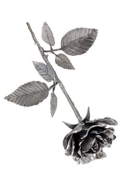 Aschefigur eine Rose in Blüte Silber (0,005 Liter) z