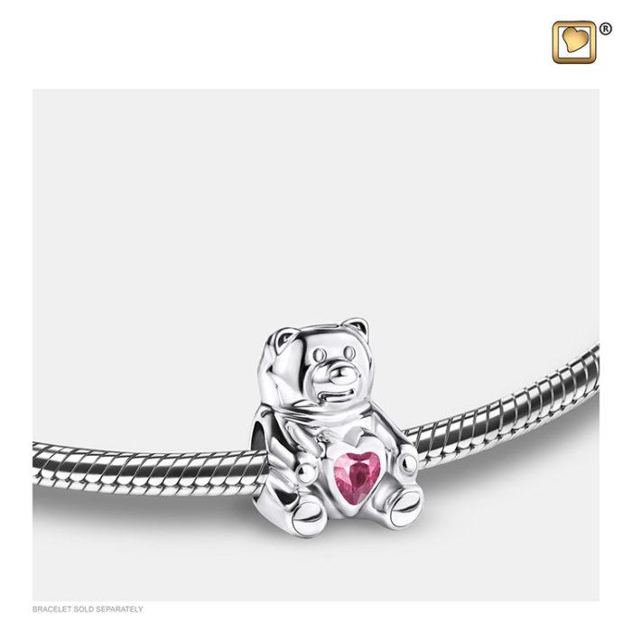 Ascheperle ´LoveUrns´ Teddybear Pink Kristall Ascheperlen